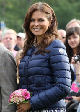 Prinzessin Madeleine bei einem Event im schwedischen Borgholm