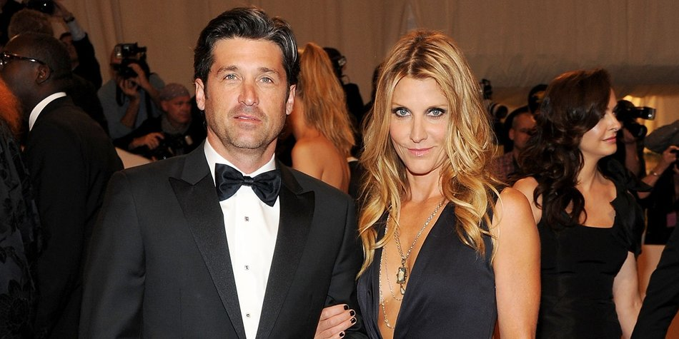 """NEW YORK, NY - MAY 02: Actor Patrick Dempsey and Jill Fink attend the """"Alexander McQueen: Savage Beauty"""" Costume Institute Gala at The Metropolitan Museum of Art on May 2, 2011 in New York City. (Photo by Larry Busacca/Getty Images)"""