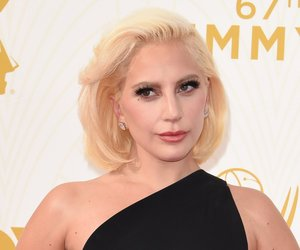 Lady Gaga attends the 67th Emmy Awards, September 20, 2015 at the Microsoft Theatre in downtown Los Angeles. AFP PHOTO / MARK RALSTON (Photo credit should read MARK RALSTON/AFP/Getty Images)