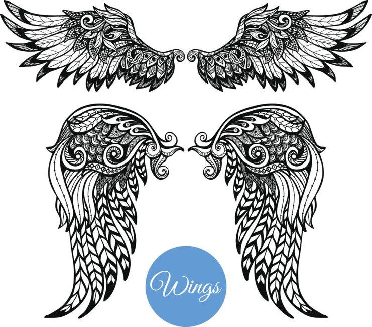 Bedeutung engelsflügel tattoo Das beliebte