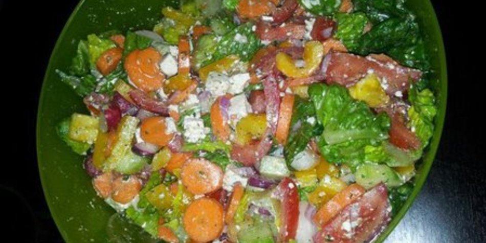 Salatsoße grüner Salat