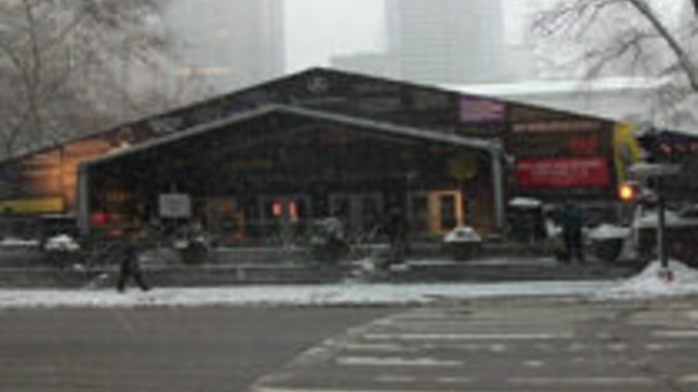 Fashion Week und Schneesturm in New York