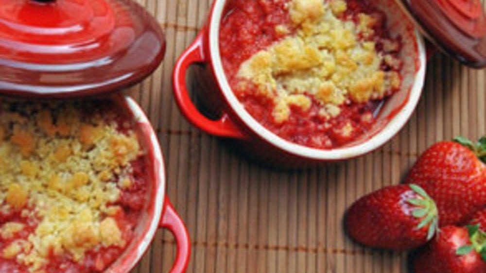 Erdbeer Crumble: Britische Nachspeise