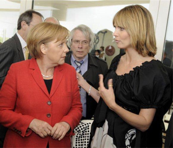 Heidi Klum und Angela Merkel