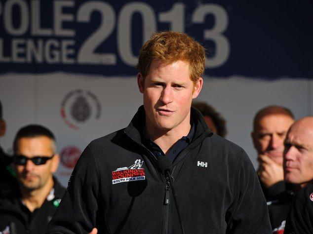 Prinz Harry bei seiner Verabschiedung in London