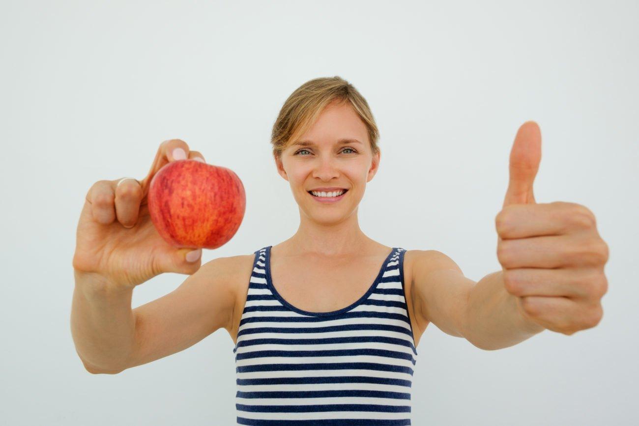 Äpfel sind gesund und machen satt