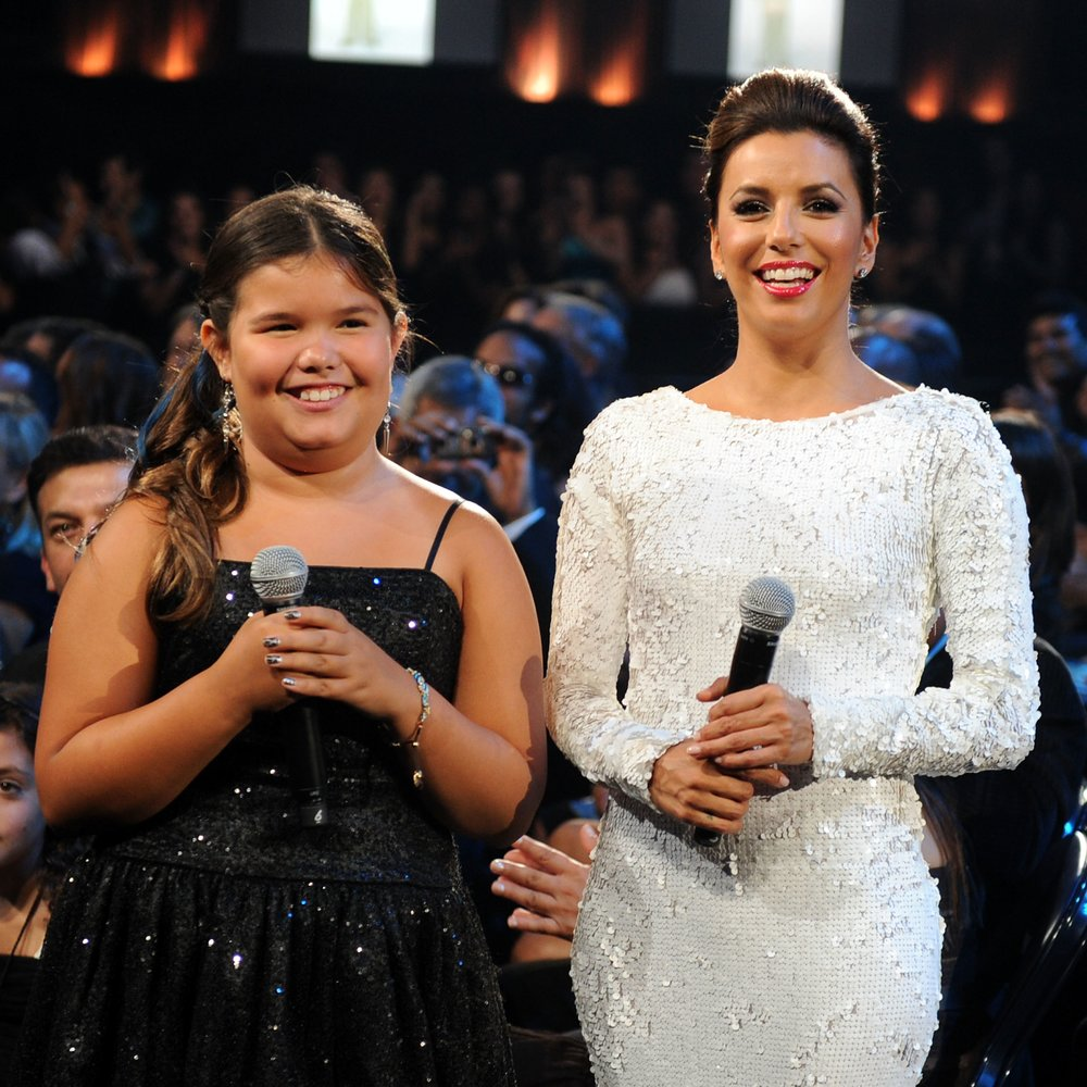 SANTA MONICA, CA - SEPTEMBER 10: Actresses Madison De La Garza (L) and Eva Longoria in the audience during the 2011 NCLR ALMA Awards held at Santa Monica Civic Auditorium on September 10, 2011 in Santa Monica, California. (Photo by Kevin Winter/Getty Images for NCLR)