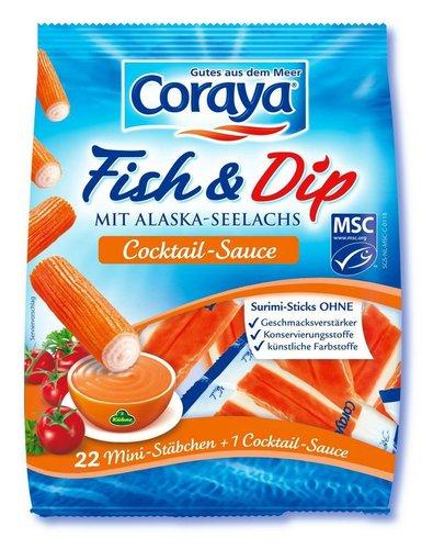 Coraya stellt Surimi Sticks her