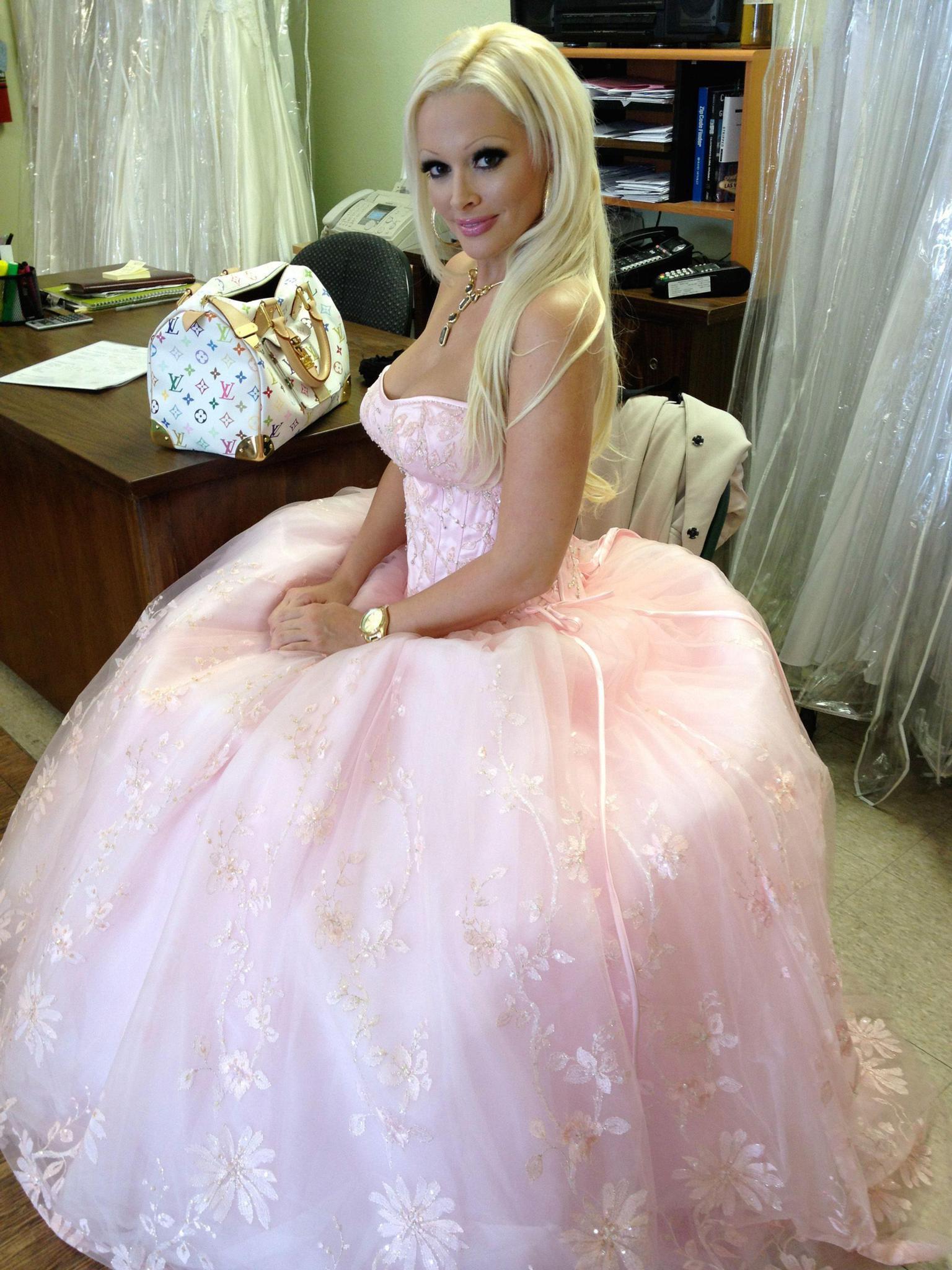 Kleid mit glitzer corsage