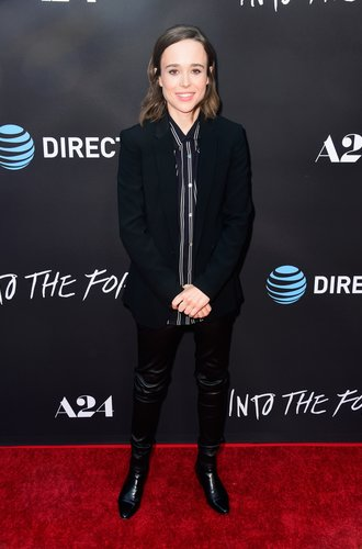 "HOLLYWOOD, CA - JUNE 22: Actress Ellen Page attends A24's ""Into The Forest"" premiere at ArcLight Hollywood on June 22, 2016 in Hollywood, California. (Photo by Frazer Harrison/Getty Images)"
