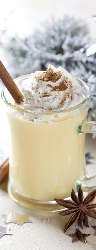 Eierlikör mit Zimt zu Weihnachten / fresh eggnog with cinnamon for christmas