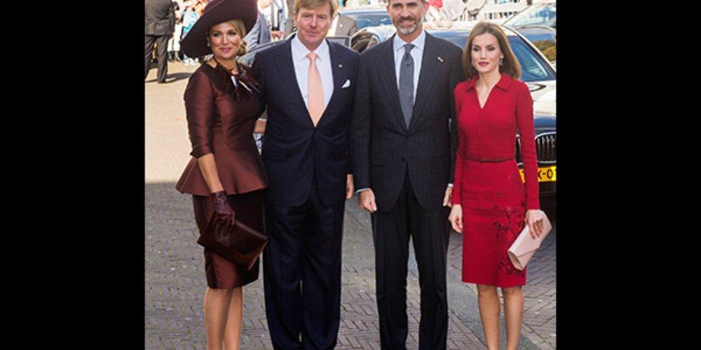 König Willem Alexander und Königin Máxima, König Felipe und Königen Letizia