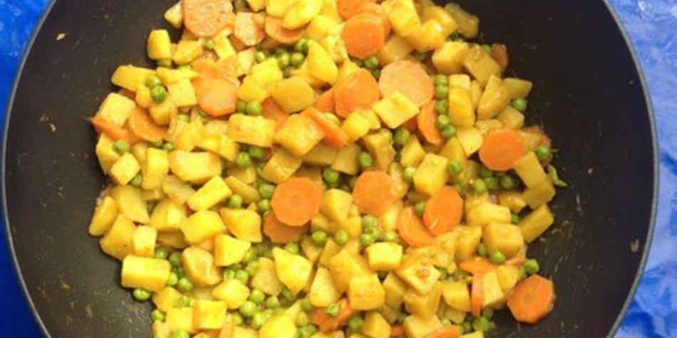 Buntes Curry-Gemüse
