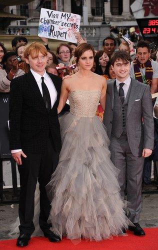 Harry Potter: Daniel Radcliffe, Emma Watson und Rupert Grint