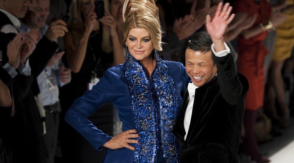Kirstie Alley läuft bei der New York Fashion Week