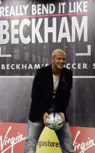 David Beckham auf einem Fototermin
