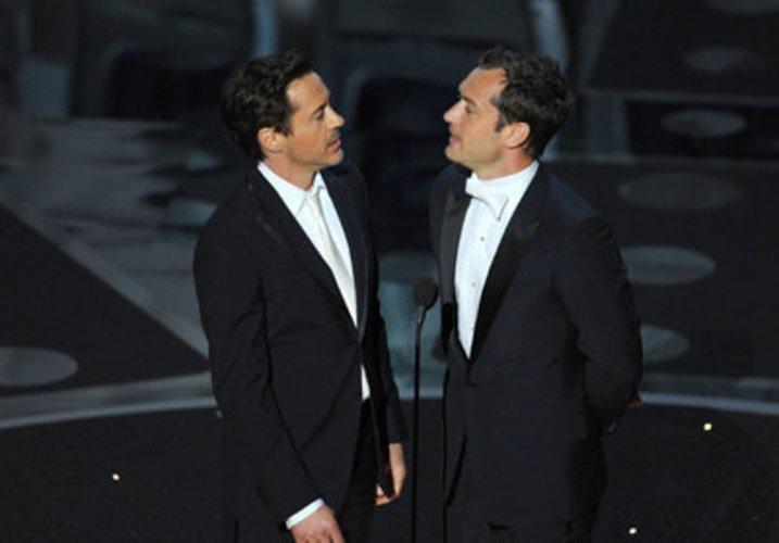Robert Downey Jr und Jude Law: Oscars 2011