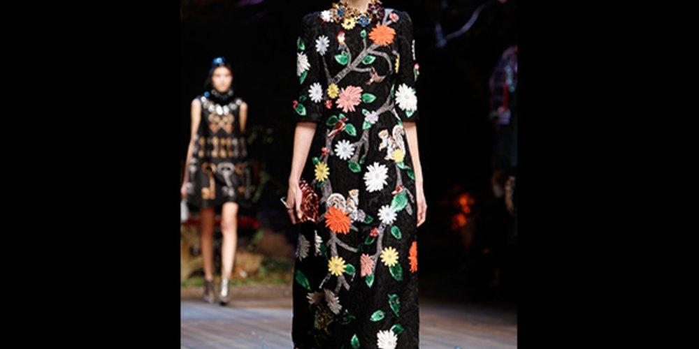 Blumenkleider Dolce & Gabbana