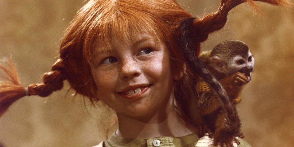 Pippi Langstrumpf und ihr Äffchen