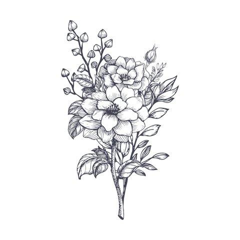 Blumenranken Tattoo 20 Schone Vorlagen Fur 8 1
