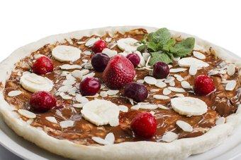 Nutella-Pizza mit Beeren