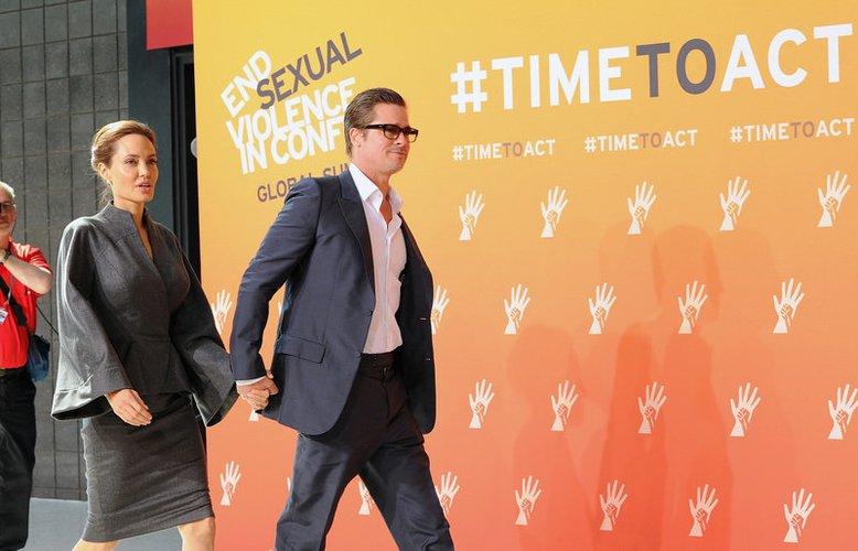 Brad Pitt und Angelina Jolie sind in London