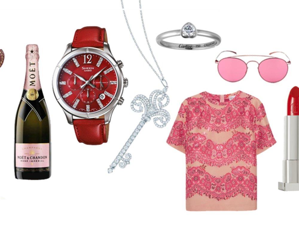 Moët, Sheen, Tiffany & Co., Cartier, REDValentino, Mykita, Liptstick Queen