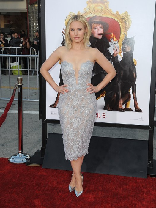 """Actress Kristen Bell attends the Los Angeles Premiere of """"The Boss"""" in Westwood, California, on March 28, 2016. / AFP / ANGELA WEISS (Photo credit should read ANGELA WEISS/AFP/Getty Images)"""