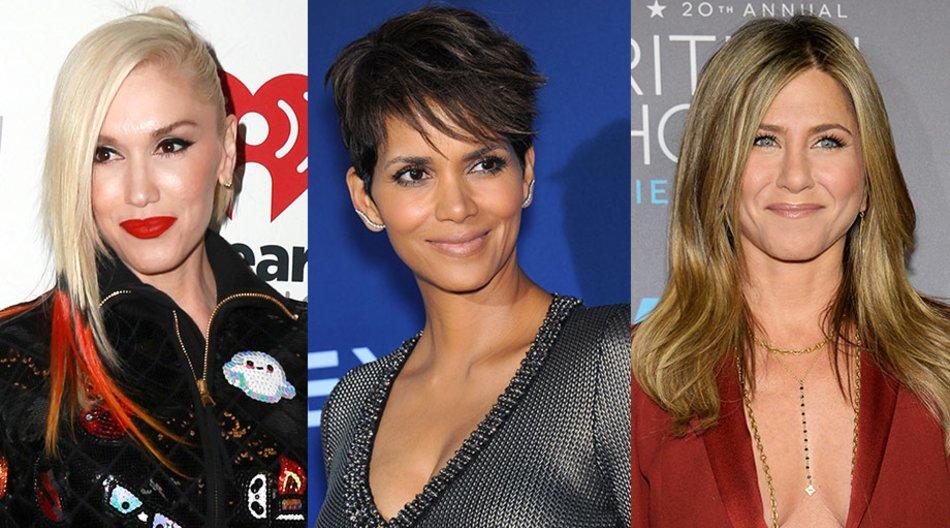 Gwen Stefani, Halle Berry, Jennifer Aniston