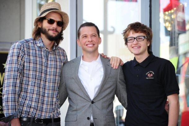 Ashton Kutcher, Jon Cryer und Angus T. Jones