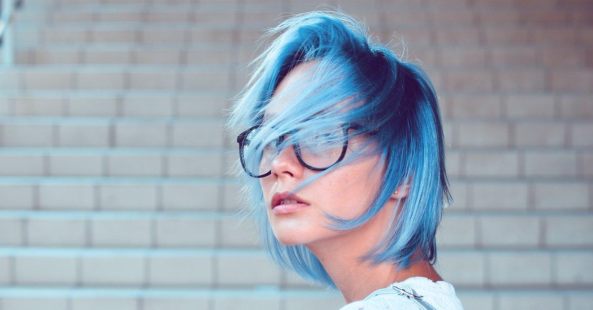 Strähnchen haare blaue kurze Strähnchen Ideen
