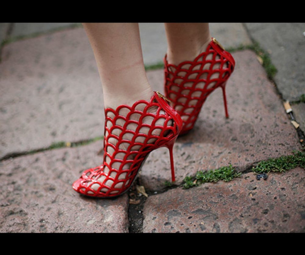 High Heel in Netz-Optik