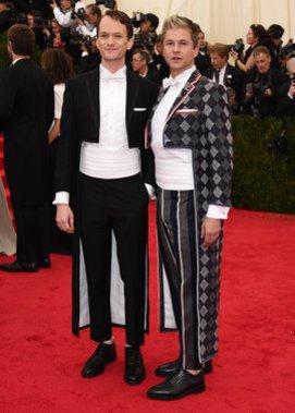 Neil Patrick Harris und David Burtka auf dem Met Ball