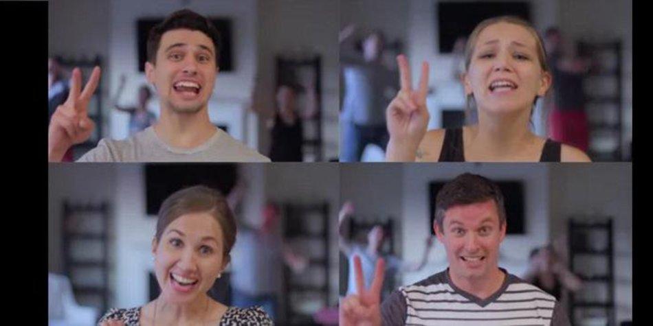 Süße Walk the Moon-Parodie als Schwangerschaftsankündigung