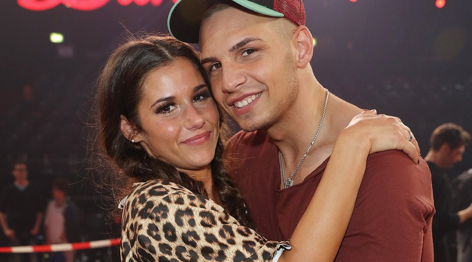 COLOGNE, GERMANY - JUNE 03: Sarah Lombardi and her husband Pietro Lombardi smile after the final show of the television competition 'Let's Dance' on June 3, 2016 in Cologne, Germany. (Photo by Andreas Rentz/Getty Images)