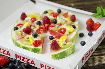 Frucht Pizza für Kinder