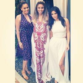 Ciara feierte mit LaLa Anthony und Kim Kardashian