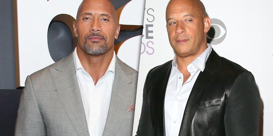 Streit der Action-Stars: Hat The Rock Vin Diesel beleidigt?