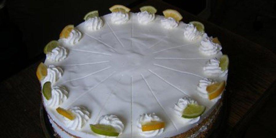Zitronen-Limettentorte