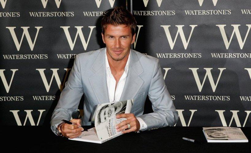 David Beckham auf einer Signierstunde im Jahr 2006