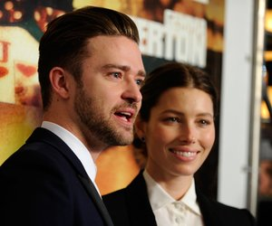 """LAS VEGAS, NV - SEPTEMBER 18: Singer/actor Justin Timberlake (L) and his wife, actress Jessica Biel arrive at the world premiere of Twentieth Century Fox and New Regency's film """"Runner Runner"""" at Planet Hollywood Resort & Casino on September 18, 2013 in Las Vegas, Nevada. (Photo by David Becker/Getty Images)"""