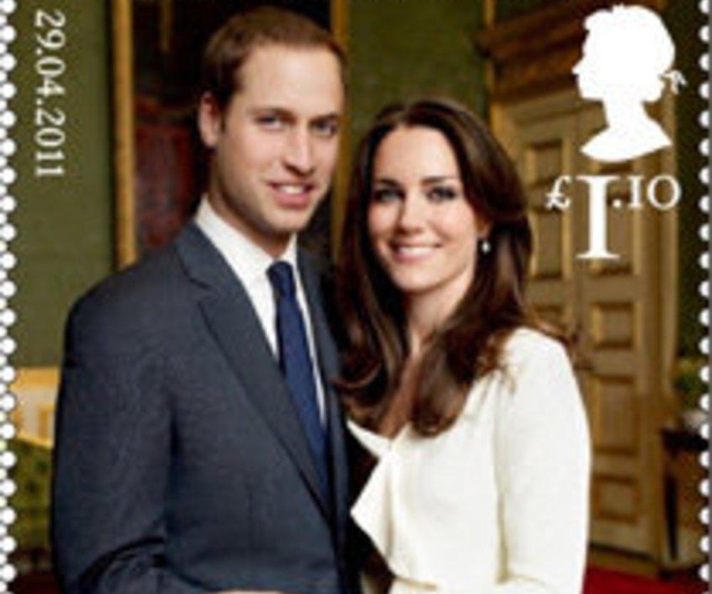 Prinz William & Kate Middleton: Hochzeits-Briefmarken!