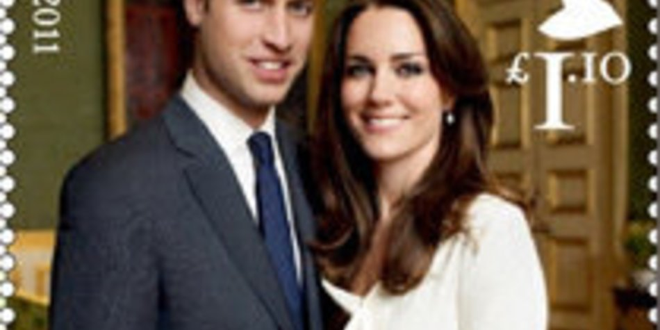 Prinz William & Kate Middleton: Hochzeits-Briefmarken!