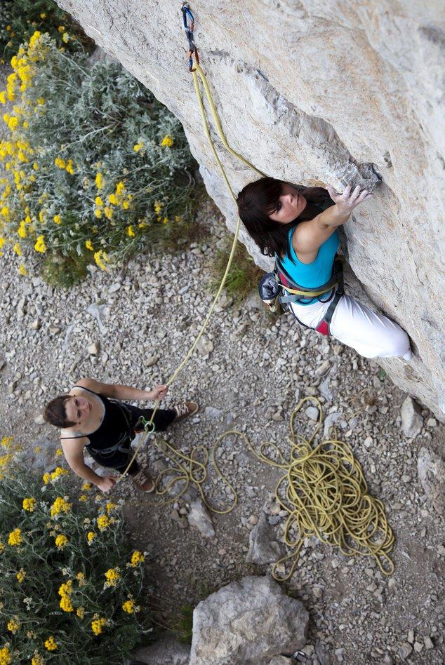 Klettern in freier Natur