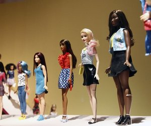 "PARIS, FRANCE - MARCH 09: Barbie dolls are displayed during the exhibition ""Barbie, life of an icon"" at the Museum of Decorative Arts as part of the Paris Fashion Week Womenswear Fall/Winter 2016/2017 on March 9, 2016 in Paris, France. More than 700 Barbie dolls are displayed during the exhibition which takes place from March 10 to September 18, 2016. (Photo by Thierry Chesnot/Getty Images)"