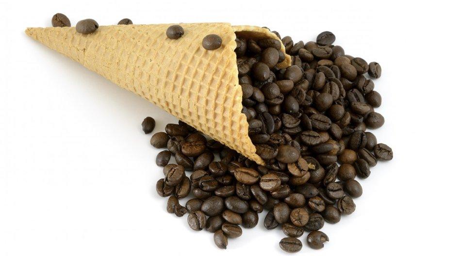 Kaffee in Waffel