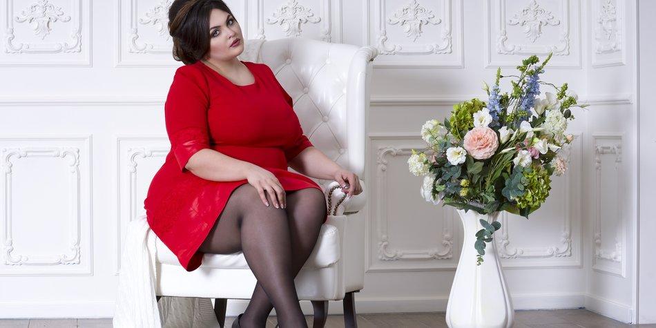 Plus Size-Bloggerin Promi-Styles