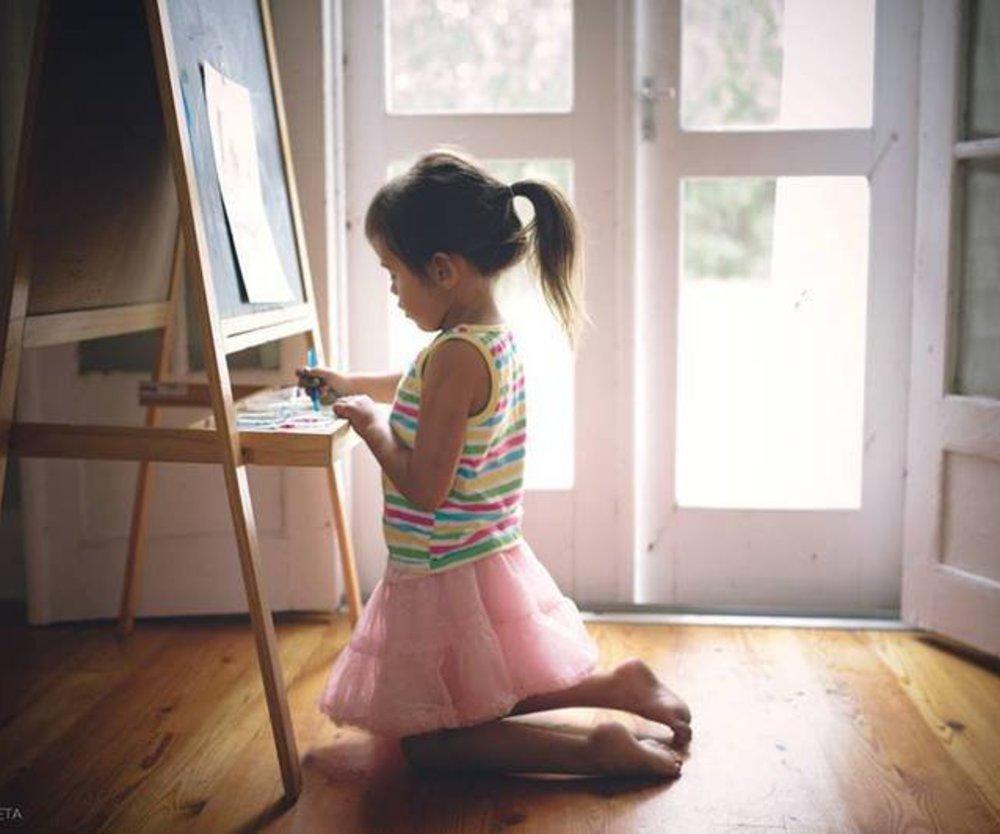 Fotostrecke von 5-jähriger Künstlerin mit Botschaft