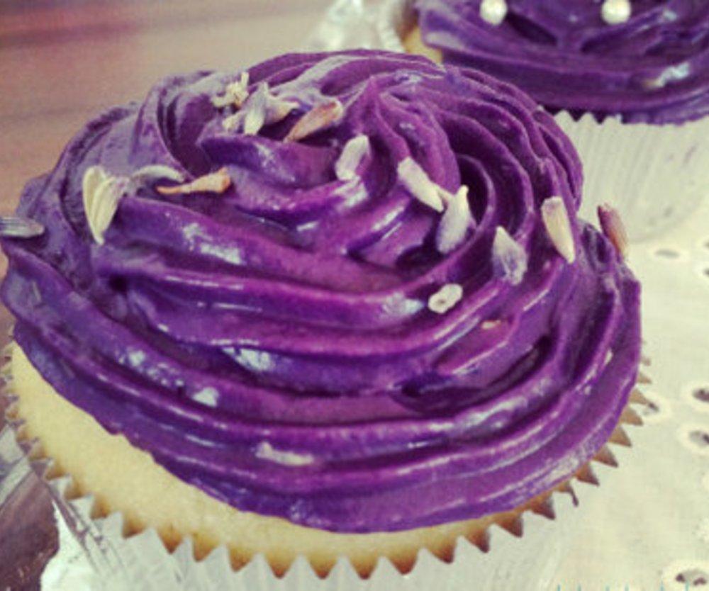 Lavendel-Mandel Cupcakes