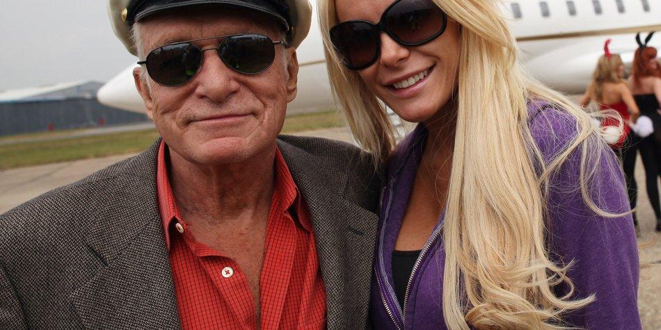 Hugh Hefner: Knallharter Ehevertrag mit Crystal Harris